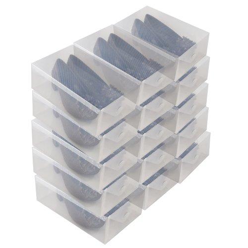 Schuhbox 15 transparente schuhschachteln - Portascarpe ikea ...