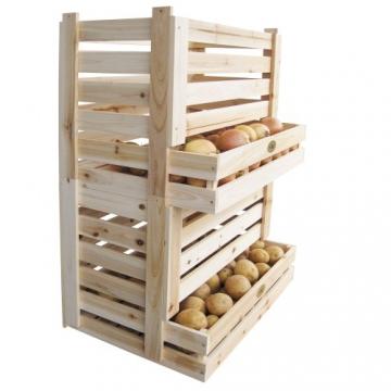 Habau Kartoffel- und Obstkiste, 58 x 38 x 42 cm - 3