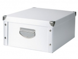 Zeller 17764 Aufbewahrungsbox, Pappe / 40 x 33 x 17, weiß - 1