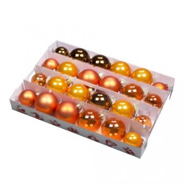 Aufbewahrungsbox für Christbaumschmuck - bis zu 72 Kugeln und Zubehör - 1 Box mit 51 Liter + 1 Deckel mit Einlegern - 5