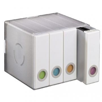 Hama CD/DVD-Album Box, für 96 CD's weiß - 2