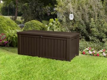 Keter 17198710 Kissenbox Rockwood, Holzoptik, Kunststoff, espresso braun, 570 Liter - 3