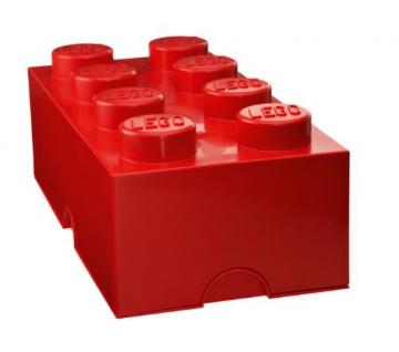 LEGO Lizenzkollektion 40041730 Stapelbare Aufbewahrungsbox, 8 Noppe, rot - 2