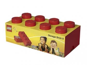 LEGO Lizenzkollektion 40041730 Stapelbare Aufbewahrungsbox, 8 Noppe, rot - 3