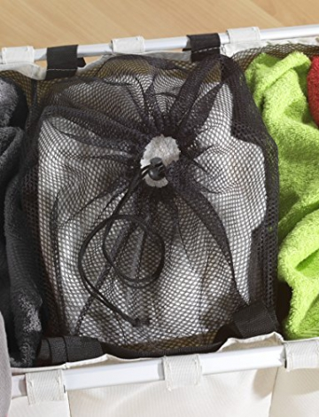 WENKO 3440113100 Wäschesammler Trio Beige - Wäschekorb, Fassungsvermögen 130 L, Kunststoff - Polyester, 63 x 57 x 38 cm, Beige - 3