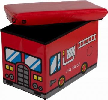 Bieco 4931307 Staubox und Sitzbank Feuerwehr, 49 x 31 x 31 cm - 2