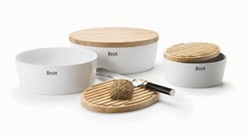 Keramik Brottopf mit Holzdeckel