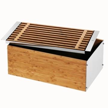 Große Brotbox aus Edelstahl und Bambus - im Test