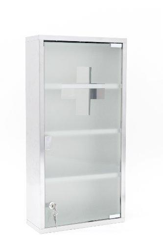 Intercube 75x30cm Design Medizinschrank Arzneischrank Edelstahl XXXL - 2