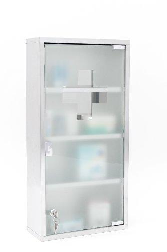 Intercube 75x30cm Design Medizinschrank Arzneischrank Edelstahl XXXL - 3