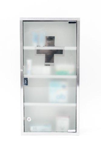 Intercube 75x30cm Design Medizinschrank Arzneischrank Edelstahl XXXL - 4