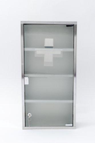 Intercube 75x30cm Design Medizinschrank Arzneischrank Edelstahl XXXL - 5