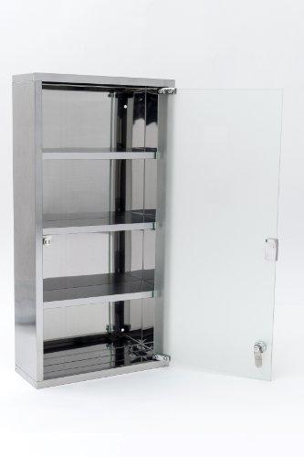 Intercube 75x30cm Design Medizinschrank Arzneischrank Edelstahl XXXL - 6