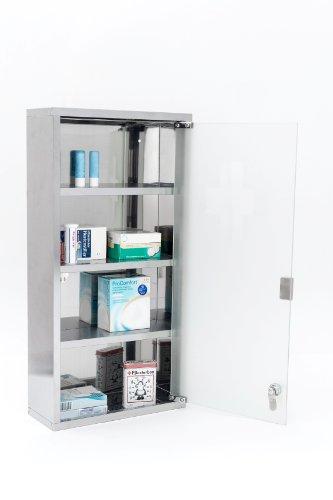 Intercube 75x30cm Design Medizinschrank Arzneischrank Edelstahl XXXL - 7