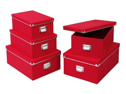 pappboxen mit deckel 5 teiliges set verschiedene farben. Black Bedroom Furniture Sets. Home Design Ideas