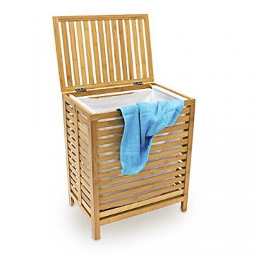 Wäschetruhe Bambus mit Leinensack