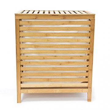 Relaxdays 10018978 Wäschetruhe 100 L, 60 x 50,5 x 35,5 cm, Bambus, natur - 5