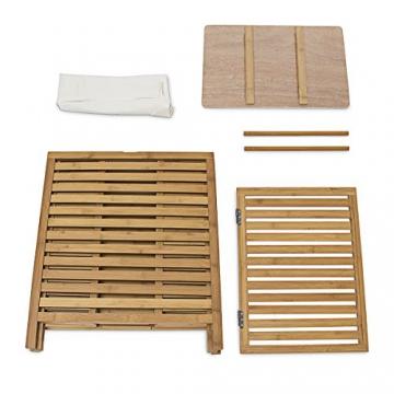 Relaxdays 10018978 Wäschetruhe 100 L, 60 x 50,5 x 35,5 cm, Bambus, natur - 7